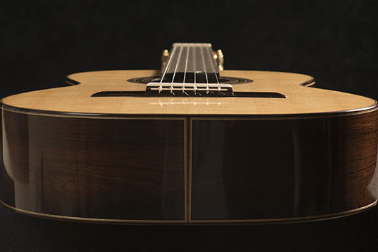 Guitar Body from Bottom | Daryl Perry Classical Guitars