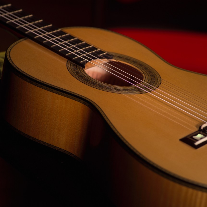 Sound Hole, Body - Side View | Daryl Perry Classical Guitars