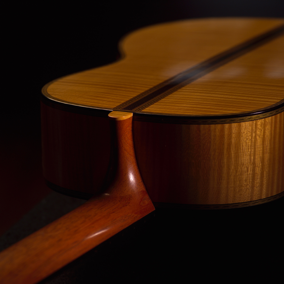Guitar Neck Joint, Rear View | Daryl Perry Classical Guitars