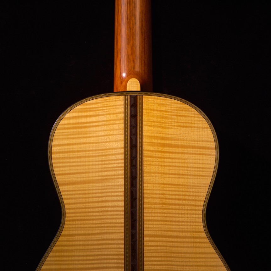1864 Torres, Neck Joint Rear | Daryl Perry Classical Guitars