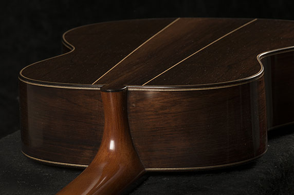 Guitar Body, Back View | Daryl Perry Classical Guitars