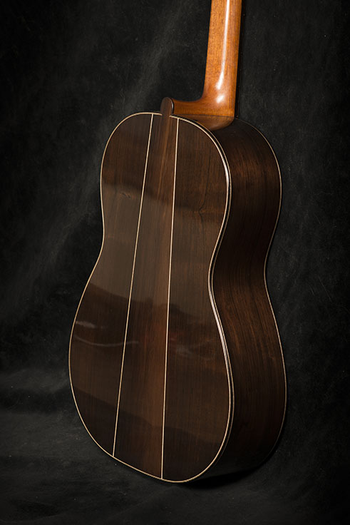 Guitar Body Detail, Back View | Daryl Perry Classical Guitars