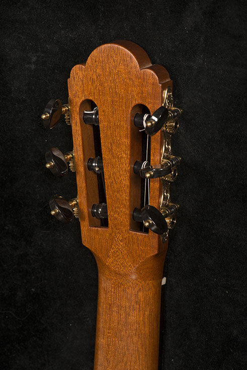Guitar Head, Back View | Daryl Perry Classical Guitars